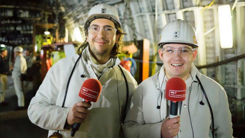 Radio Emscher Lippe geht in 1.200 Metern Tiefe auf Sendung. Foto: Westfunk