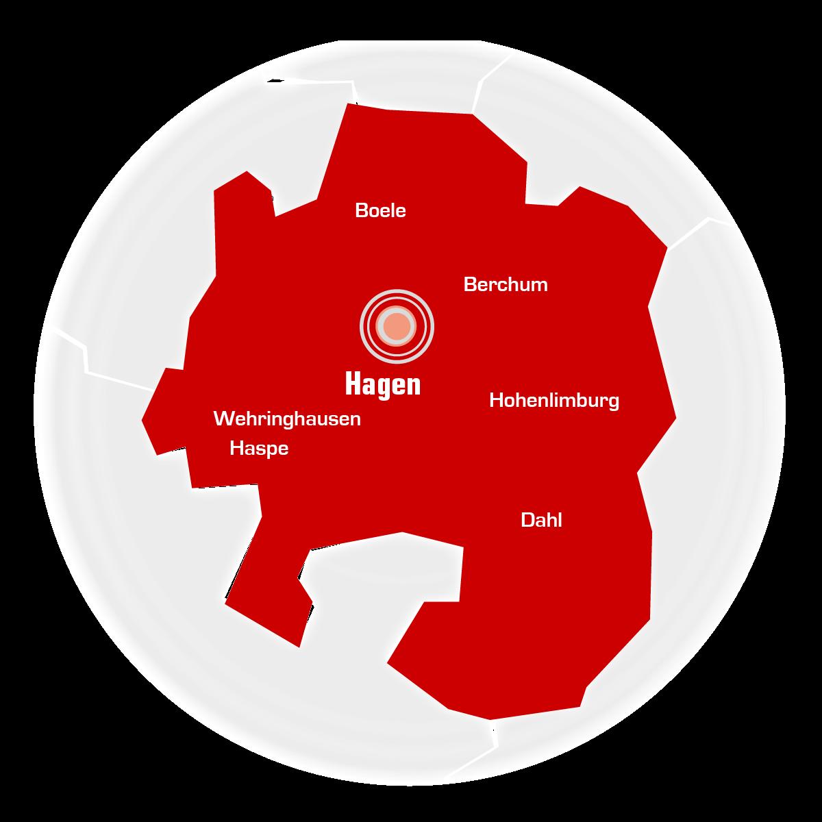 Sendegebiet von Radio Hagen
