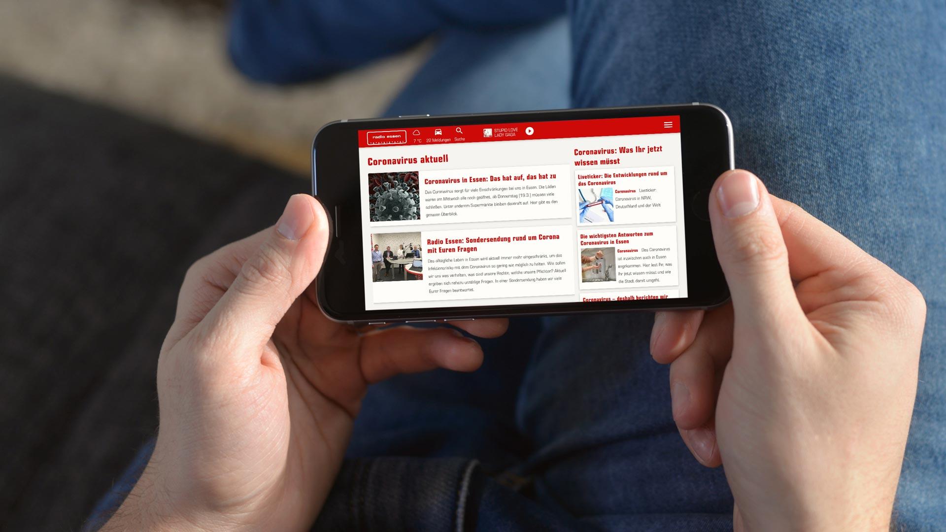 Auf Themenseiten bieten die Radiosender der Westfunk Infos zur Corona-Pandemie.