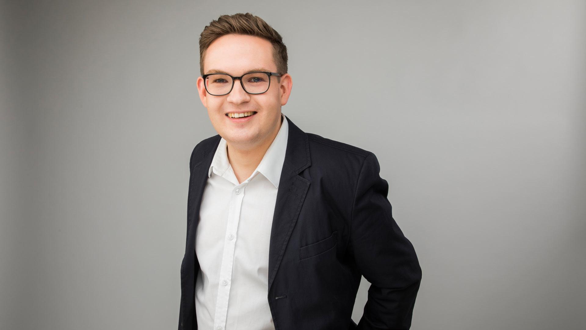 Lennart Hemme ist neuer Chefredakteur von Radio Emscher Lippe. Foto: Westfunk