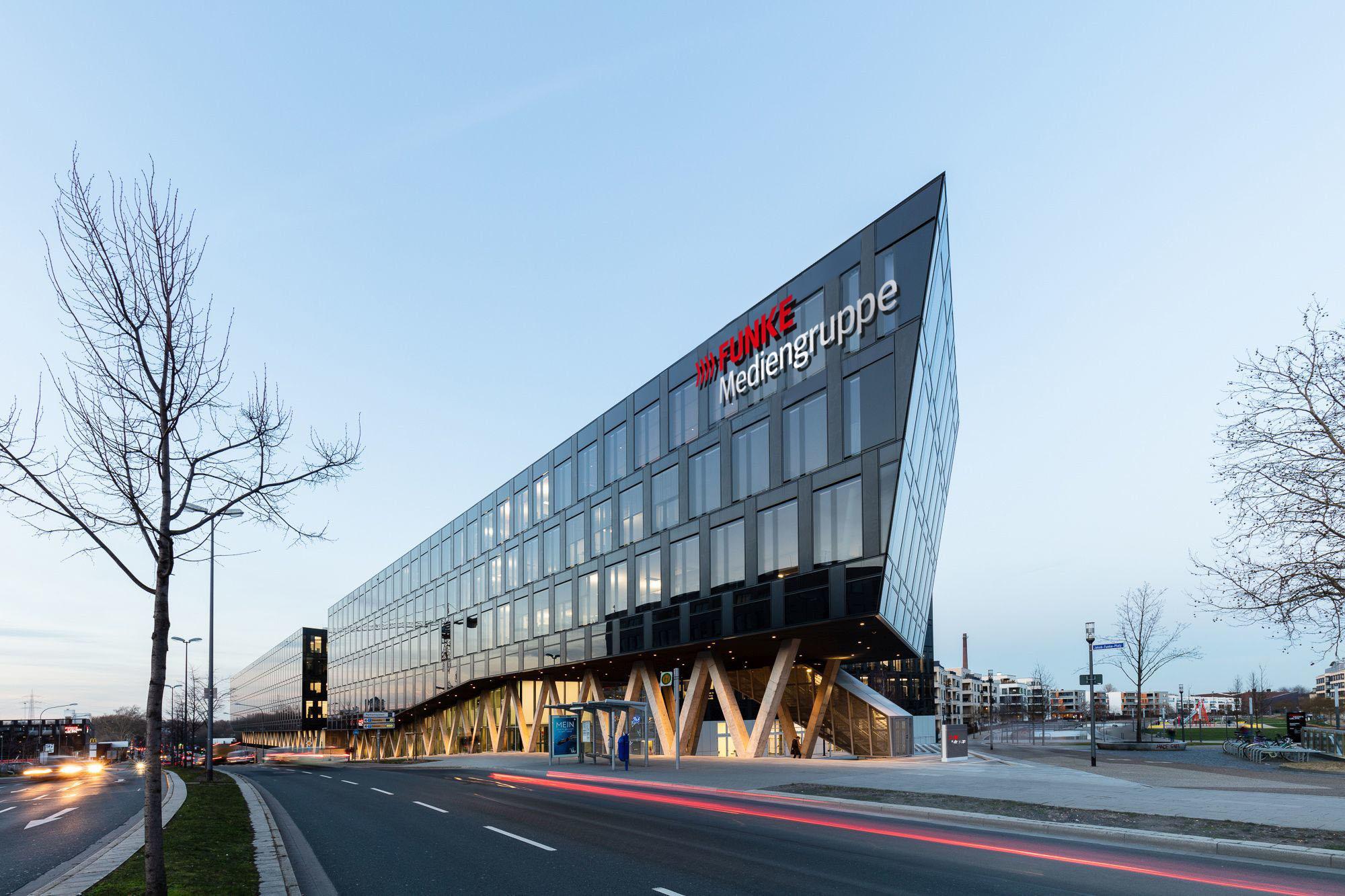Die Zentrale der FUNKE Mediengruppe in Essen, in der auch die Westfunk sitzt.