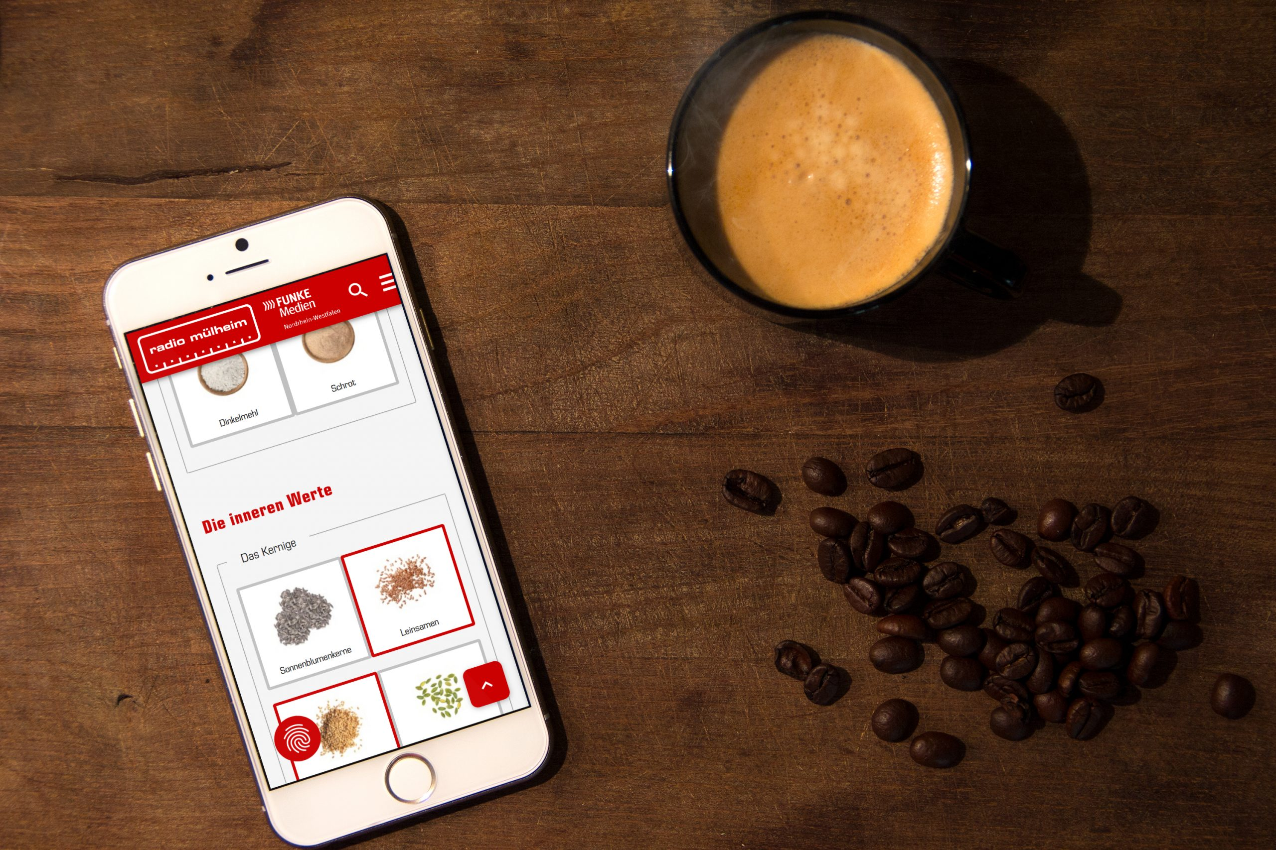 Westfunk setzt eine interaktiv programmierte Schnitten-Schmiede um, bei der die Zutaten für das Brot der Aktion ausgewählt werden können. Foto: Westfunk