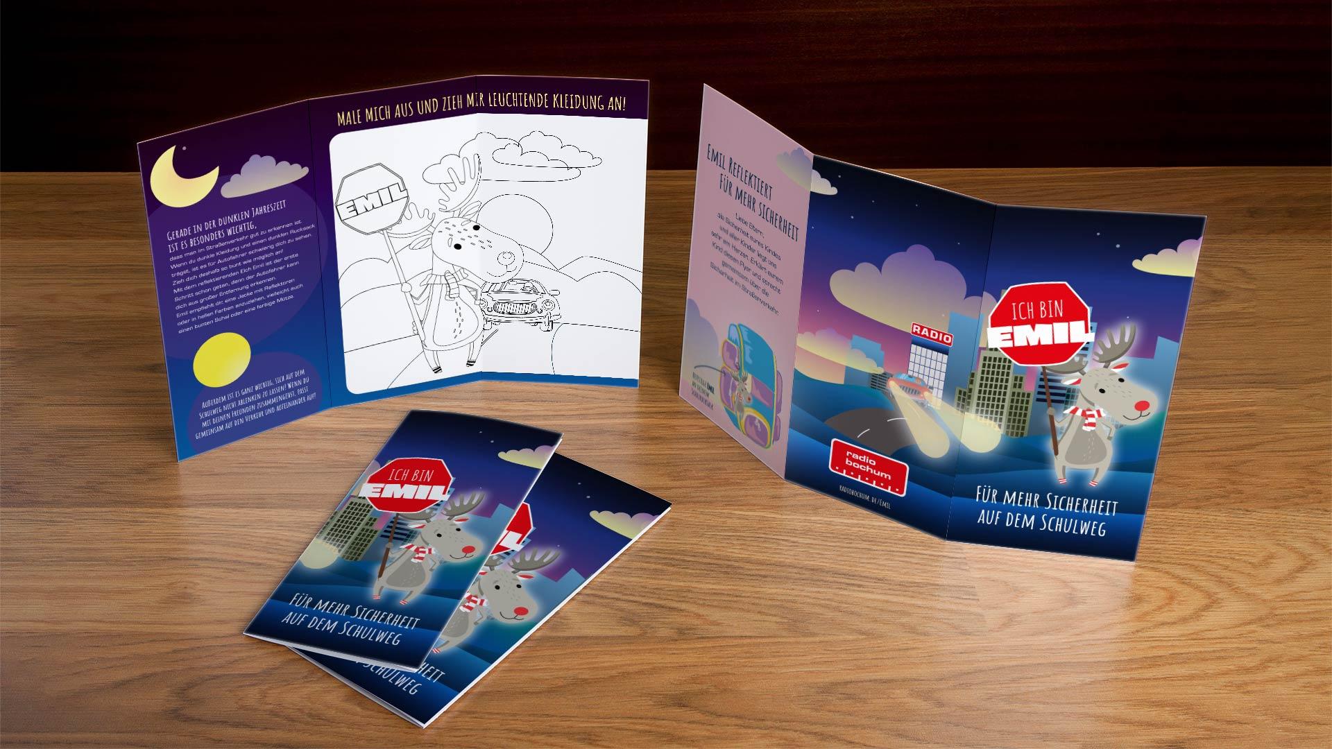 Mit dem Flyer inklusive Ausmalbild lässt sich das Thema spielerisch an die Kinder tragen. Foto: Westfunk